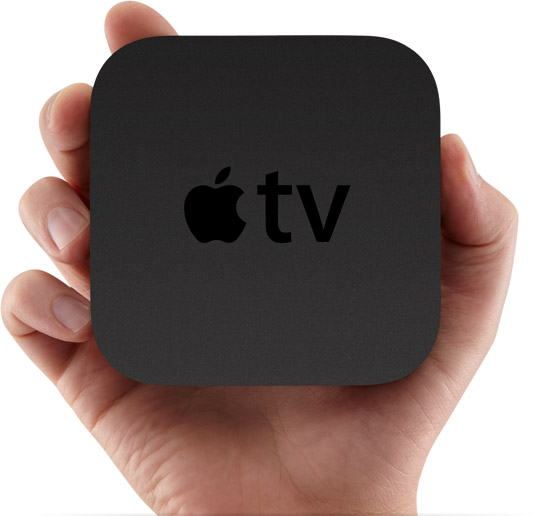 apple tv in hand